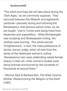 """I am sick of the patriarchy. Raise up witches; burn misogyny and sexist men to the ground. If you imagine that there wasn't any sexual violence directed at the """"witches"""", you would be sorely mistaken. Intersectional Feminism, Patriarchy, The More You Know, Social Issues, History Facts, Social Justice, Human Rights, Thought Provoking, Equality"""