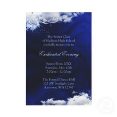 One Enchanted Evening: Invite idea. Except fog instead of clouds.