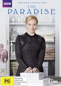 The Paradise:Set amidst the Victorian splendor of Britain's first department store, The Paradise is a rags-to-riches story of a young girl who falls in love with the intoxicating charms of the modern world. As Denise finds her feet as a lowly shop girl, she must navigate her way through power struggles, intrigues and affairs.