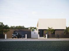 modern house Doors, Mansions, House Styles, Lightning, Outdoor Decor, Modern, Furniture, Home Decor, Minimal Design