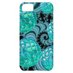 Teal New Beginnings, Abstract Fractal Journey Case For iPhone 5C