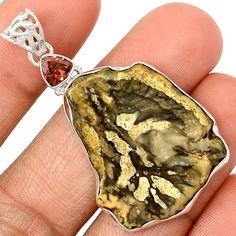 Petrified Wood 925 Silver Pendant Jewelry PP5358 | eBay