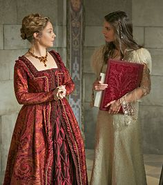 Kenna&Catherine Reign Catherine, Reign Mary, Mary Queen Of Scots, Queen Elizabeth, Bash And Kenna, Kenna Reign, Lady Kenna, Megan Follows, Caitlin Stasey