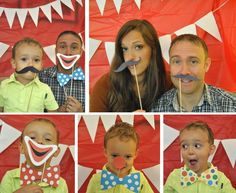 Party Time Mysteries: Friday Freebie: Circus Photo Booth Props