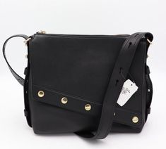 733d83fae35a NWT Marc Jacobs Downtown Studded Black Leather Shoulder Crossbody Bag New   695  MarcJacobs  ShoulderBag