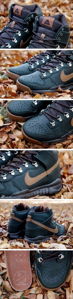 new concept 8da93 6bc52 Poler x Nike Dunk High OMS - Black Spruce - Classic Brown - SneakerNews.com