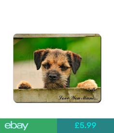 Mouse Mats & Wrist Rests Border Terrier Puppy 'Love You Mum' Computer Mouse Mat Christmas Gif, Ad-Bt5Lymm #ebay #Electronics