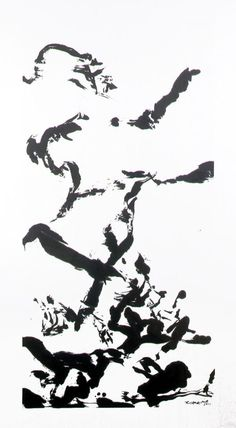 Untitled No. 1 by Zao Wou-Ki (ink on chine colle)) Georges Pompidou, India Ink, Chinese Calligraphy, Abstract Painters, Art Moderne, 2013, Calm, Painting, Artists