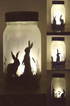 #Candle #jars #bunny #silhouette Bunny rabbit silhouette jar light  lit by craftylittlefoxshops                                                                                                                                                                                 Morebrp classfirstletterThe Most current page sharing about craftylittlefoxshopspCharacteristic of The Pin Bunny rabbit silhouette jar light  lit by craftylittlefoxshops                                     brThe pin…