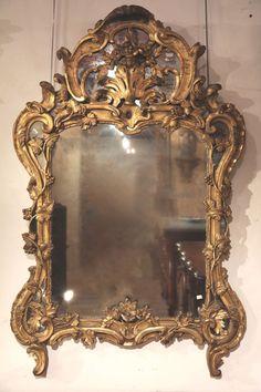 Fine, French, Louis XV period mirror