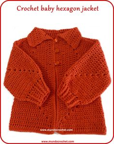 84f1ed7614b Crochet hexagon jacket Crochet hexagon sweater-free pattern Crochet Baby  Cardigan