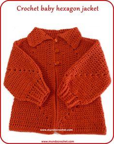 Crochet hexagon jacket/Crochet hexagon sweater-free pattern