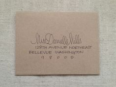 Hand Addressed Envelope