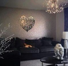 Heart Mirror // maybe for the bedroom? Cool concept though!