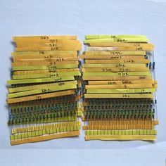 NIEUWE 600 Stks 30 Soorten Elk Waarde Metaalfilmweerstand pack 1/4 W 1% weerstand diverse Kit Set 14-21