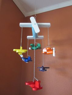 Wood+'Big+Plane+Little+Planes'+Airplane+Mobile++by+RaysScraps,+$65.00