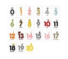 Number+1-20+Flash+Cards