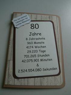 Geschenk Zum 80 Geburtstag 80 Birthday Party Ideas Pinterest