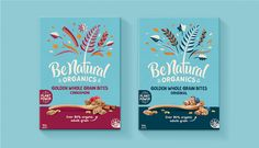 Plant power never looked so good. Loop Brands designed the packaging for Be   Natural, a line of organic cereal and granola bars.