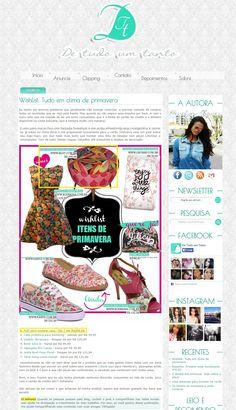 Um produto da Elo7 foi publicado no Blog de Tudo um Tanto, em matéria sobre estampas florais.