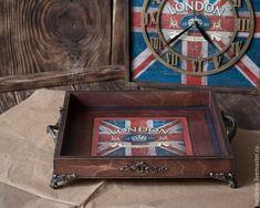 """Купить Поднос """"Лондон"""" - поднос, лондон, Британский флаг, мужской подарок, подарок на 23 февраля"""
