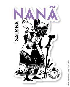 Adesivos para enfeitar e passar um Axé para quem segue a espiritualidade dos Orixás. Afro, Holy Mary, Orisha, Sacred Art, Wicca, Tatoos, Minnie Mouse, Sculptures, Arts And Crafts