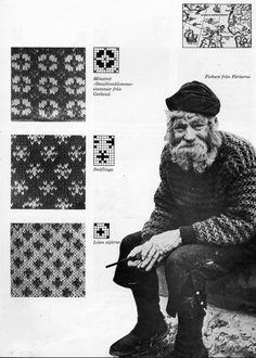"""Fisherman from The Faroe Islands. A favorite knitting book """"Knitting in the Nordic Tradition"""" written by Vibeke Lind."""