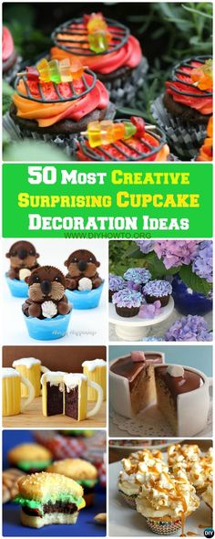 This list ofmost creative and Surprising #cupcake #decoration ideas and Recipesis the best the internet has to offer. via @diyhowto