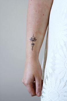 Unalome loto tatuaje temporal del sistema dos / bohemio