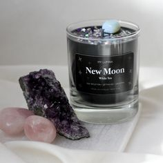 Homemade Soy Candles, Cute Candles, Brewing Tea, New Moon, Shot Glass, Fragrance, Healing, Crystals, Stone