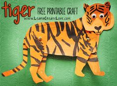 Tiger Printable Craft