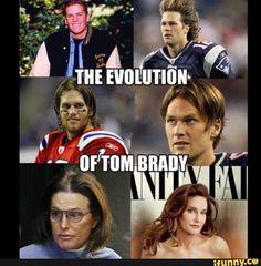 Evolution of Tom Brady lol Nfl Jokes, Funny Football Memes, Sports Memes, Funny Jokes, Funny Shit, Funny Stuff, Hilarious, Tom Brady Funny, Nfl Sunday Ticket