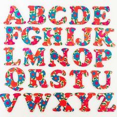 Today... I printed the alphabet floral.