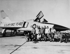 Convair F-106A 56-0459 with employees mfr  PictionID:43817128 - Title:Convair F-106A 56-0459 with employees mfr - Catalog:01_00093404 - Filename:01_00093404.tif - -----Image from SDASM's aircraft photo collection. Please Tag these images so that the information can be permanently stored with the digital file.---Repository: San Diego Air and Space Museum