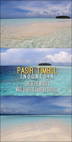 Pasir Timbul, in Raja Ampat, West Papua, is one of the most stunning sand bar beaches in the world, definitely an Indonesia highlight! Travel in Asia.