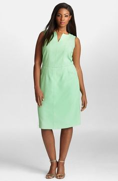 Beautiful, classic sheath in a great color. Available up to a size 26! #Preppy #PlusSize