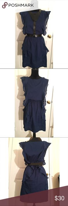 gap navy blue dress size 4 Worn only once. In good condition. GAP Dresses Midi