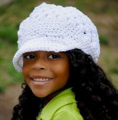 Crochet Newsboy Cap For Girls 6d1f10f8b072