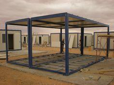 FlexBasic Cargo Container Homes, Building A Container Home, Container Buildings, Container Architecture, Container House Plans, Container House Design, Shipping Container Homes, Carport Plans, Casa Loft