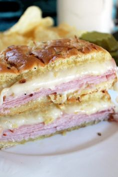 Hot Ham and Cheese Sandwiches -Creole Contessa