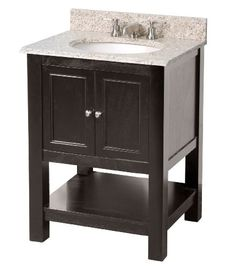 Bins at the bottom for extra storage - would love to get replace the vanity/sink