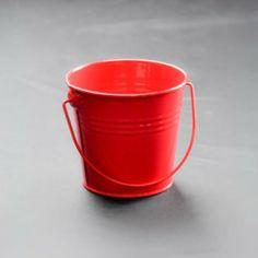 Red 9 cm metal bucket