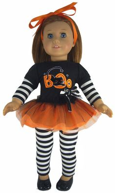 "Adorable Halloween Outfit for 18"" American Girl Doll Clothes Sew Beautiful #DollClothesSewBeautiful"