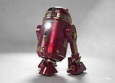 Remix: R2-D2 in Iron Man armor.