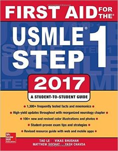 First Aid for the USMLE Step 1 2017 27th Edition - https://eylla.net/1SUr