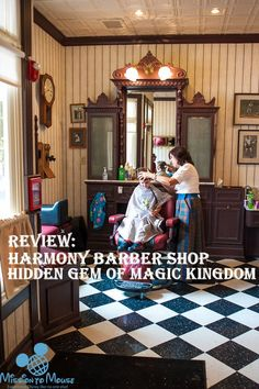 Review for Childs and Adult cut at Harmony Barber Shop in Magic Kingdom at Disney World