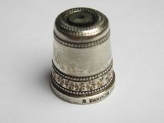 RARE Queen Mother Stanhope Hallmarked Silver Thimble | eBay