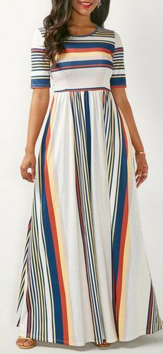Shop casual Dresses online,Dresses with cheap wholesale price,shipping to worldwide White Maxi Dresses, Maxi Dress With Sleeves, Casual Dresses, High Waist Dresses, Dresses Dresses, Trendy Dresses, Plus Size Maxi Dresses, Casual Clothes, Long Dresses