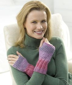 Comfy Knit Wristers http://www.redheart.com/free-patterns/comfy-knit-wristers