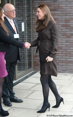 Kate Middleton in Hobbs for an engagement in London. January, 2015.